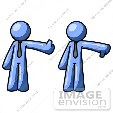 450x450 Clip Art Graphic Of A Blue Guy Character Giving The Thumbs Up