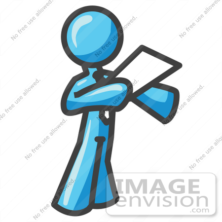 450x450 Clip Art Graphic Of A Sky Blue Guy Character Giving A Speech