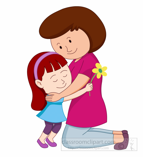 502x550 Mothers Day Clipart Happy Mothers Day Daughter Giving Flower
