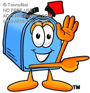 289x300 A Mail Box Cartoon Character Giving Directions