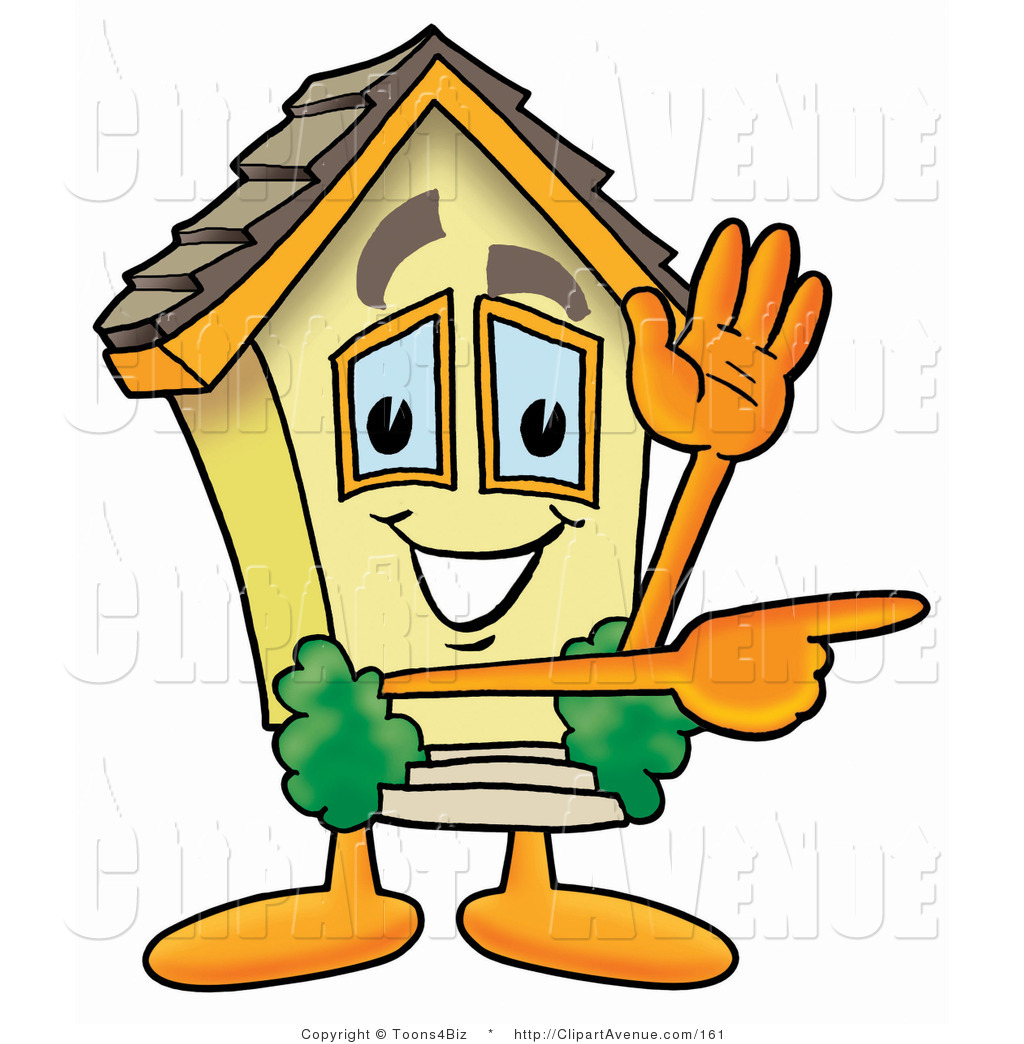 1024x1044 Avenue Clipart Of A Yellow Home Mascot Cartoon Character Waving