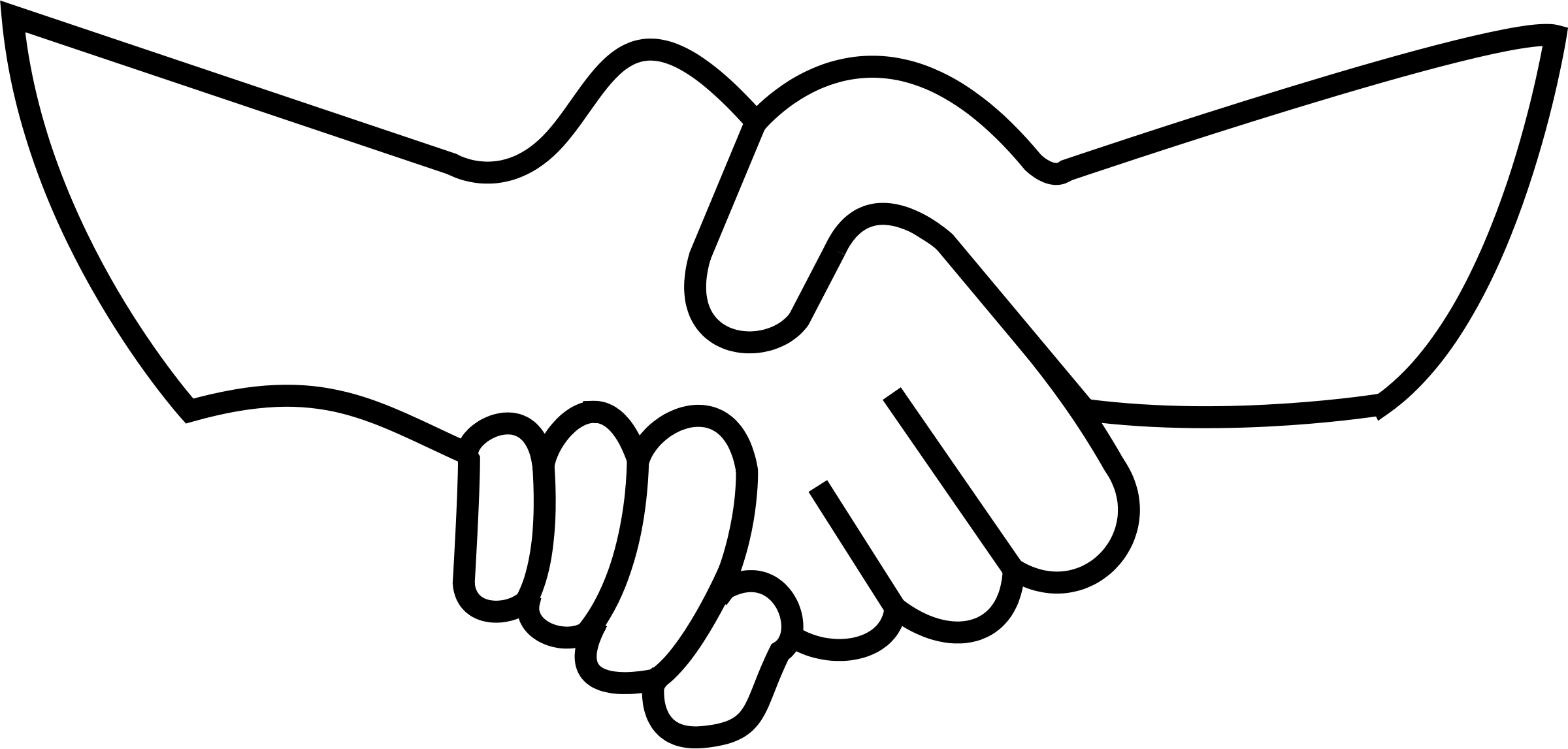 2400x1147 Hand Clipart Helping Hand
