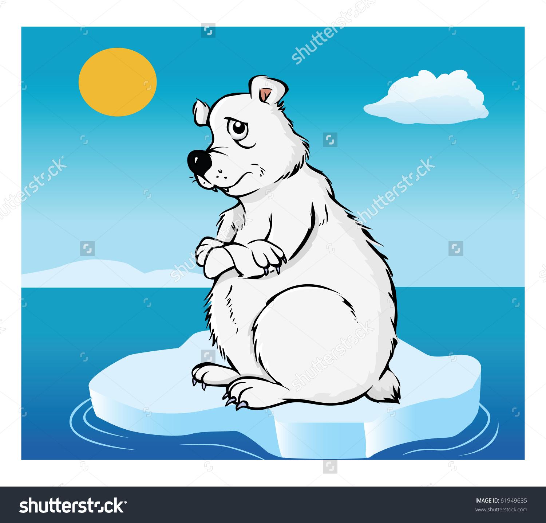 1500x1435 Polar Bear On Melting Ice Clip Art Cliparts