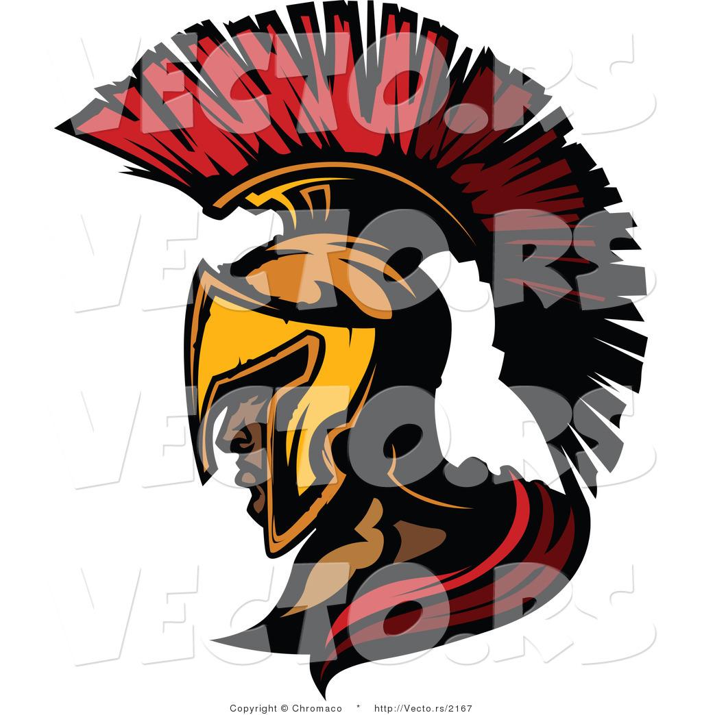 1024x1044 Vector Of A Cartoon Roman Spartan Soldier By Chromaco