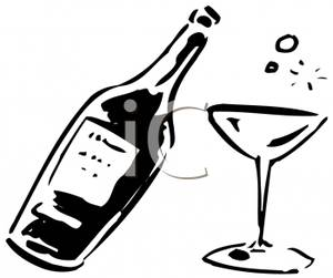 Glass Clipart Black And White