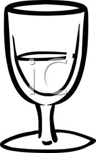 188x300 Drinking Glass Clipart Black And White Clipart Panda