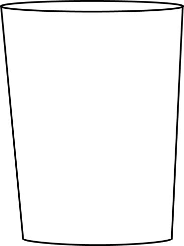 374x500 Drinking Glass Clipart Black And White