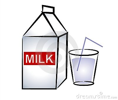 400x338 Glass Of Milk With Straw Clipart