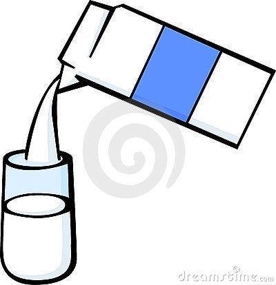400x414 Pouring Milk Carton Clipart