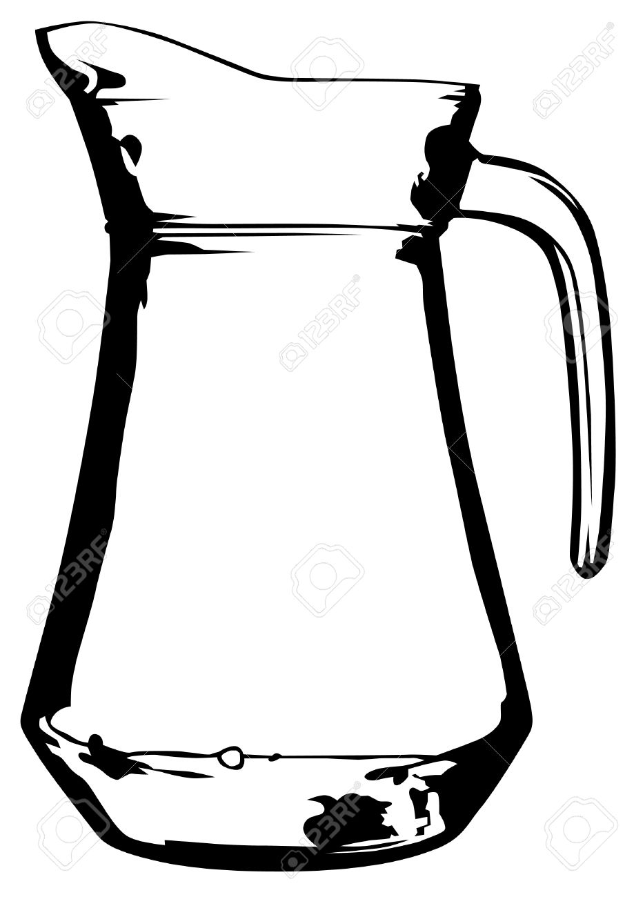 919x1300 Glass Jug With Milk On White Background Royalty Free Cliparts