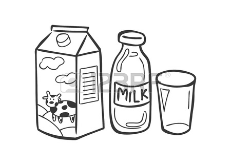 450x322 Glass Of Milk With Gable Top Package Close Up. Cow Milk Carton