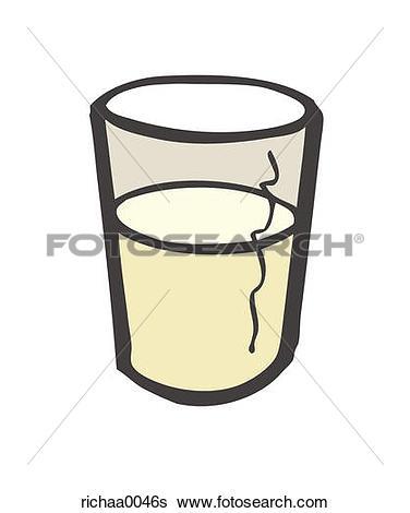 376x470 Glass Milk Clipart