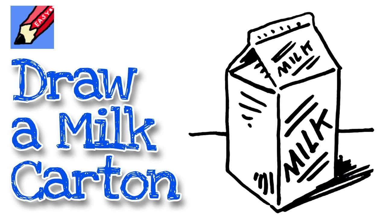 1280x720 How To Draw A Milk Carton Real Easy