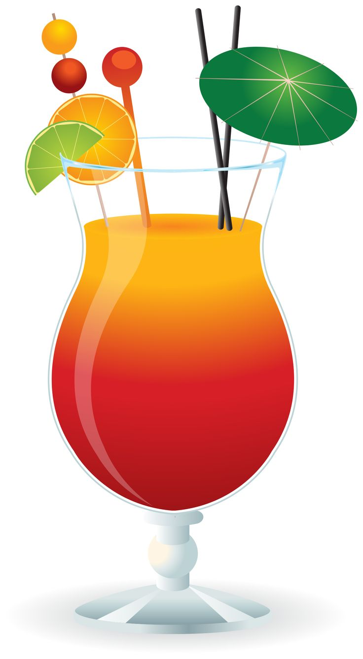 Glass Of Orange Juice Clipart
