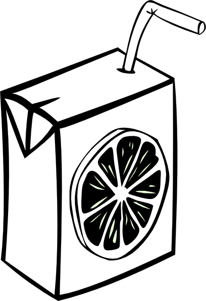 408x596 Glass Of Fruit Juice With Ice Clipart