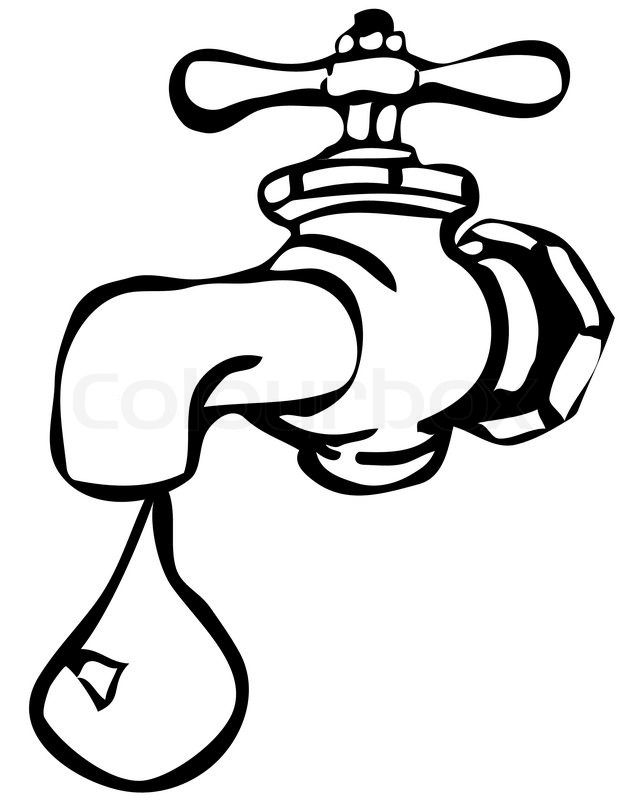 619x800 Running Tap Water Clipart