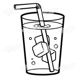 160x160 Straw Clipart Glass Water