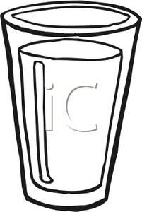 Glass Of Water Clipart Black And White | Free download ...