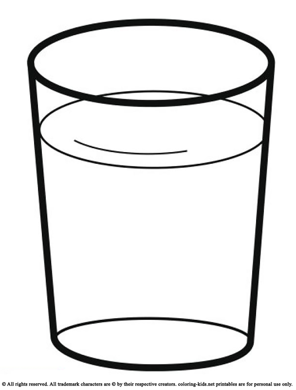 1000x1316 Water Glass Drink A Glass Of Water Drinks Coloring Pages Cliparts