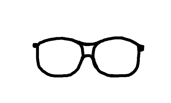 600x360 Drawn Glasses Nerd
