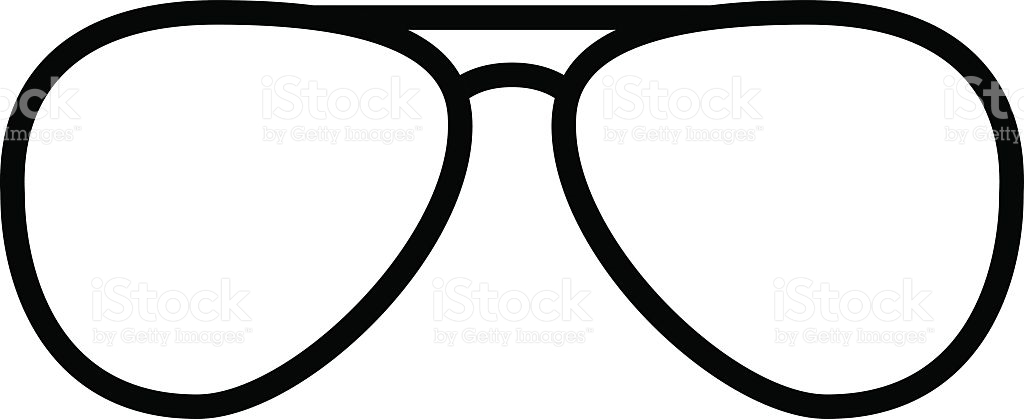 Sunglasses outline. Collection of clipart free