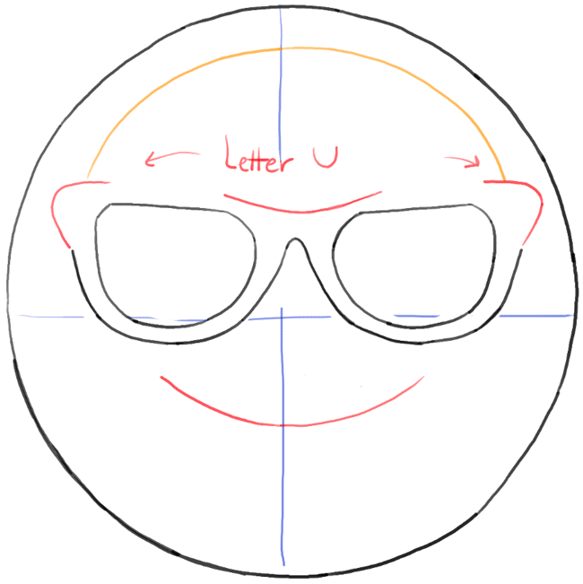 650x651 How To Draw Sunglasses Emoji Face With Easy Steps Tutorial How