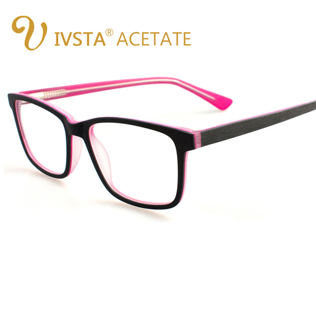 640x640 Ivsta Handmade Acetate Optical Glasses Drawing Wooden Brush Like