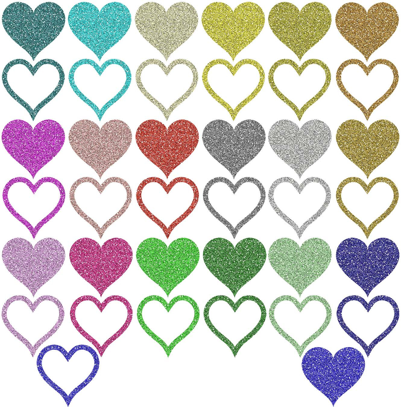 1350x1350 Glitter Clipart Colorful Heart
