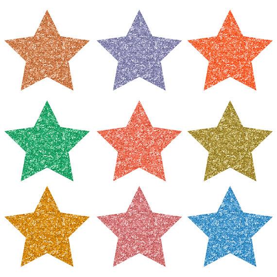 570x570 Buy 3 For 8 Usd 15 Glitter Star Clip Art Colorful Glitter