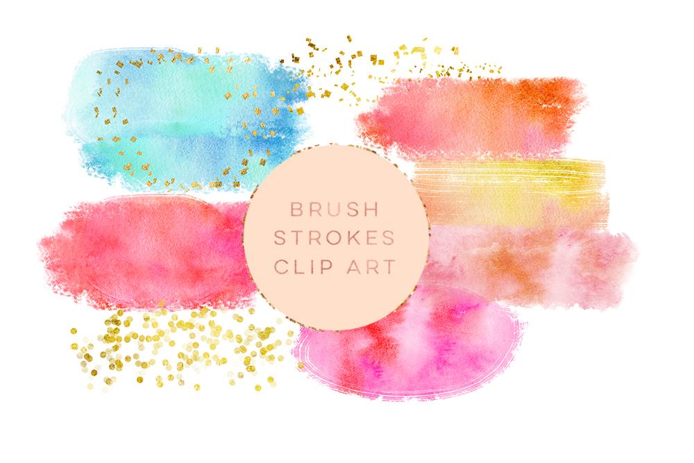 1000x667 Watercolor Glitter Brushes Stroke, Wate Design Bundles