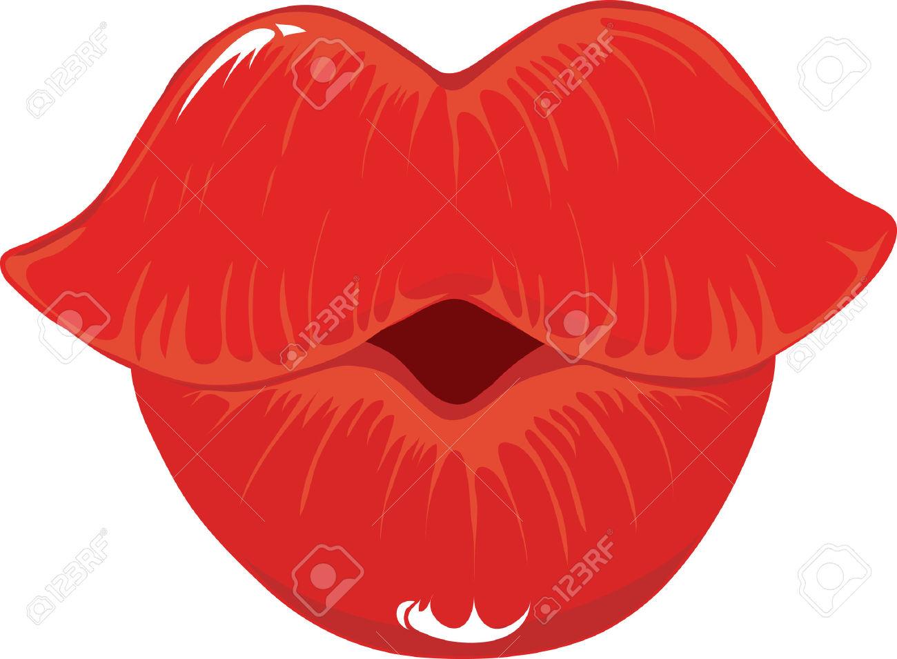 1300x955 Kiss Clipart Puckered Lip