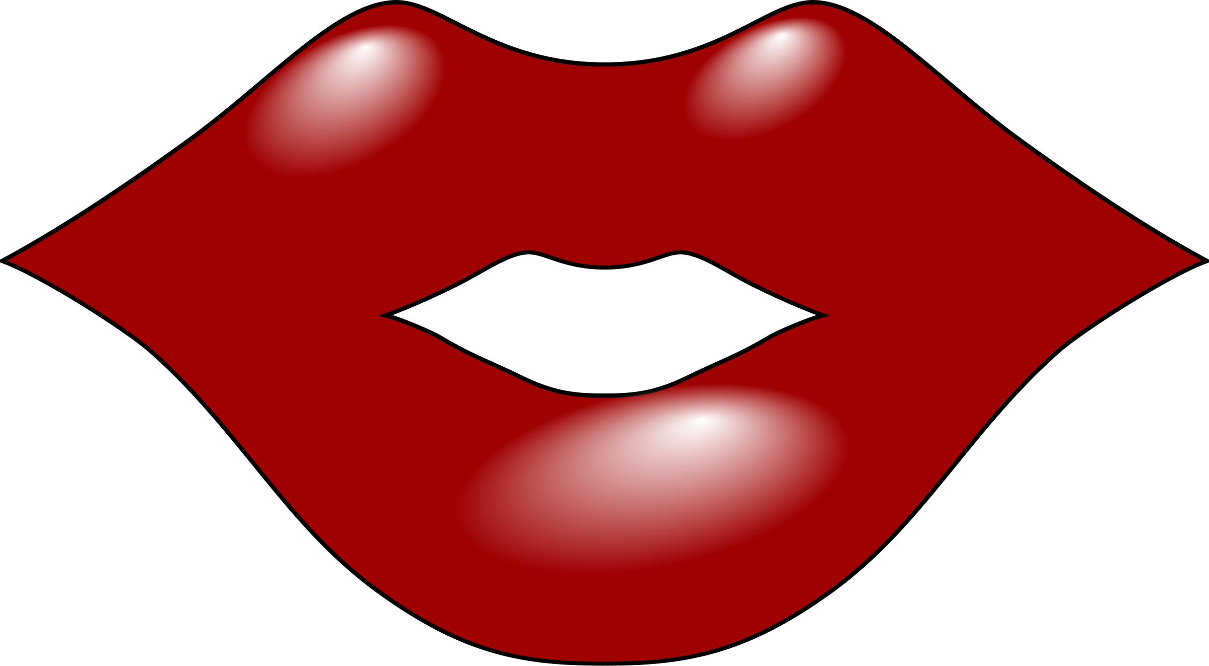 2400x1322 Kisses Clipart Red Lip
