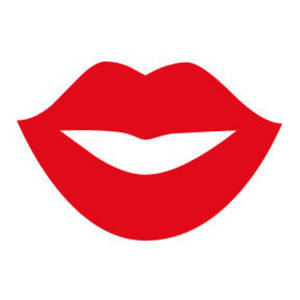 300x300 Kissing Clipart Red Lipstick