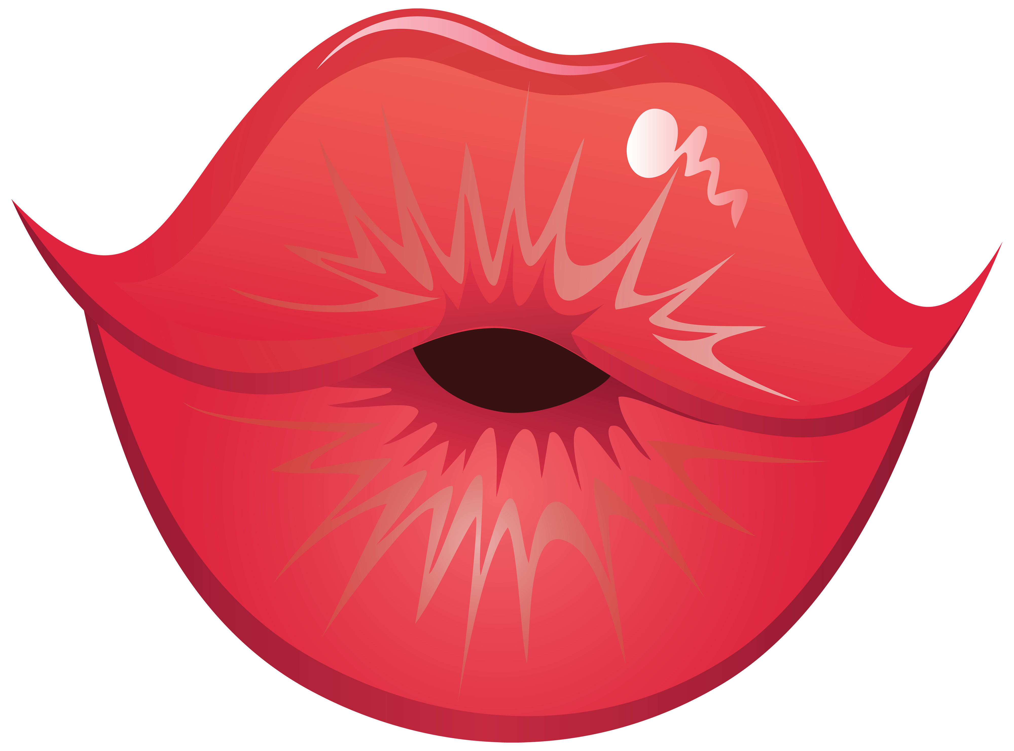 4000x2962 Kissing Lips Clipart