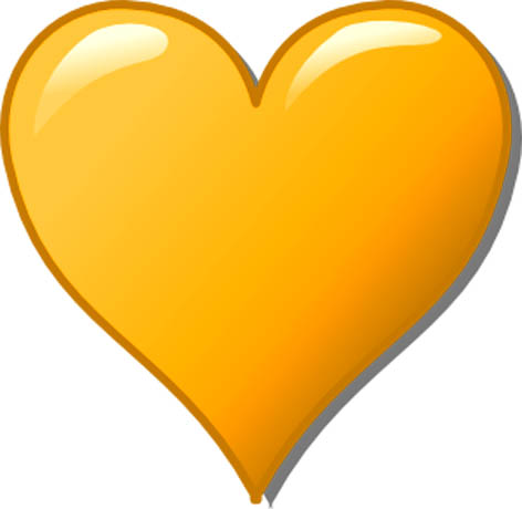 472x460 Romantic Clipart Orange Heart