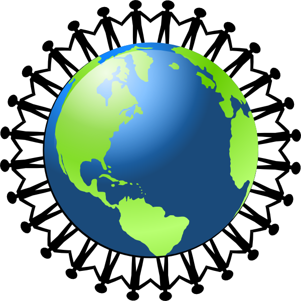 600x600 People Holding Hands Around The World Clip Art