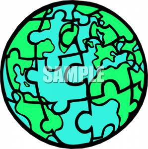298x300 Earth Clipart Puzzle