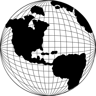400x399 Globe Black And White Transparent World Globe Clipart
