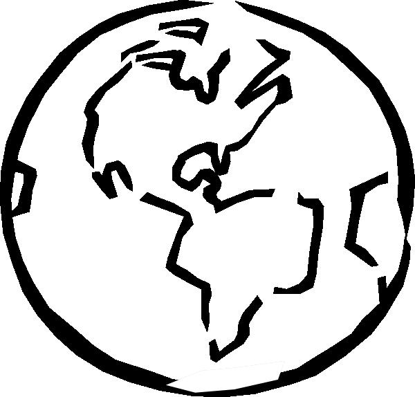 600x574 Black And White Earth Clip Art