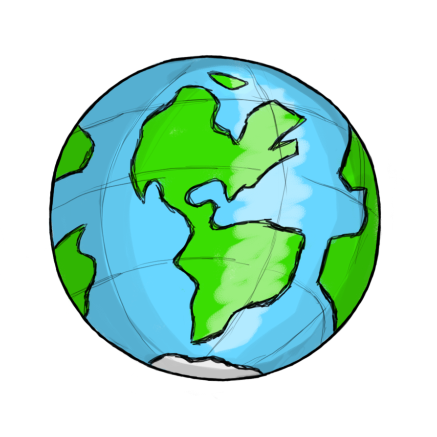 894x894 Globe Earth Clipart Black And White Free Images 4 2