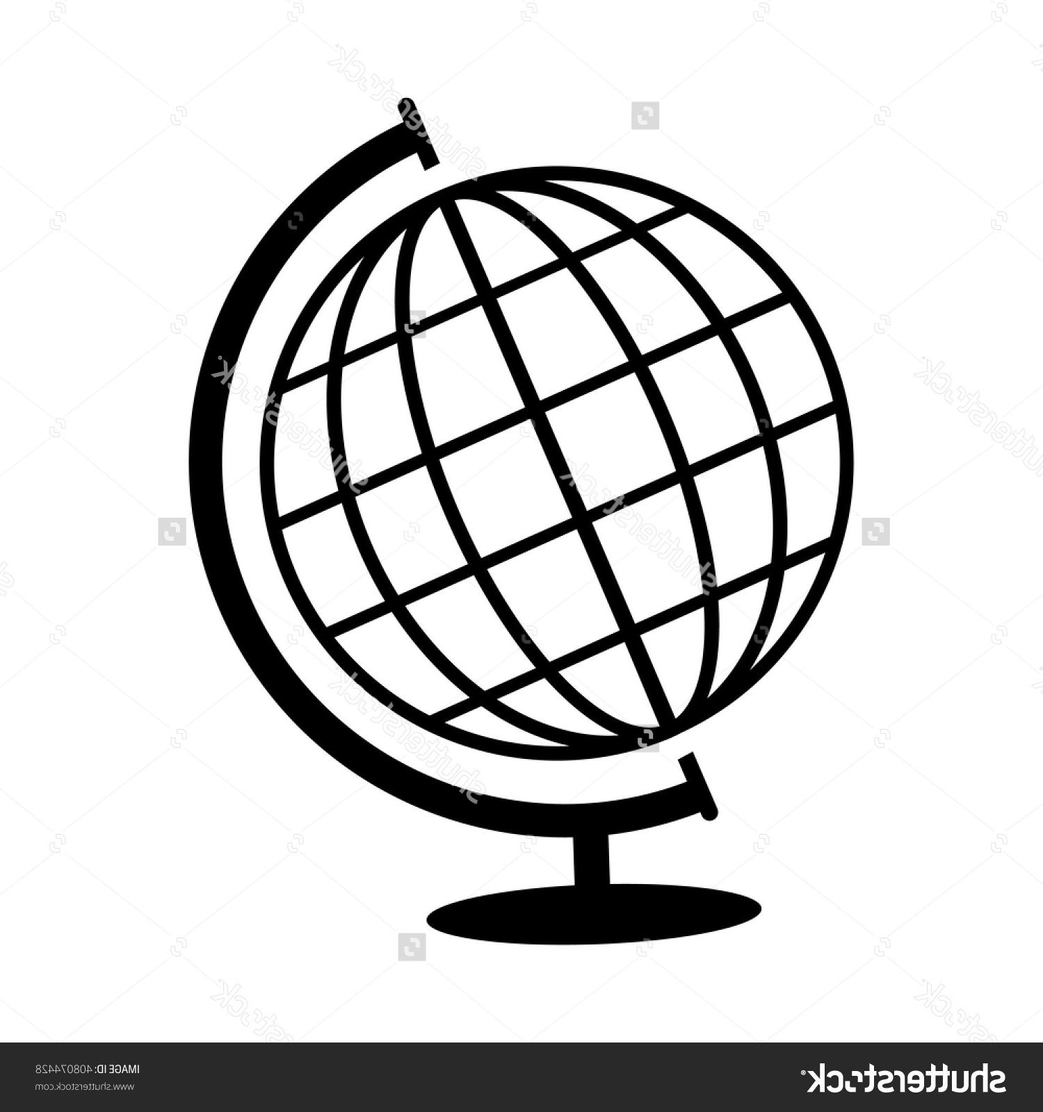 1500x1600 Unique Stock Vector Globe Icon Black On White Background Pictures