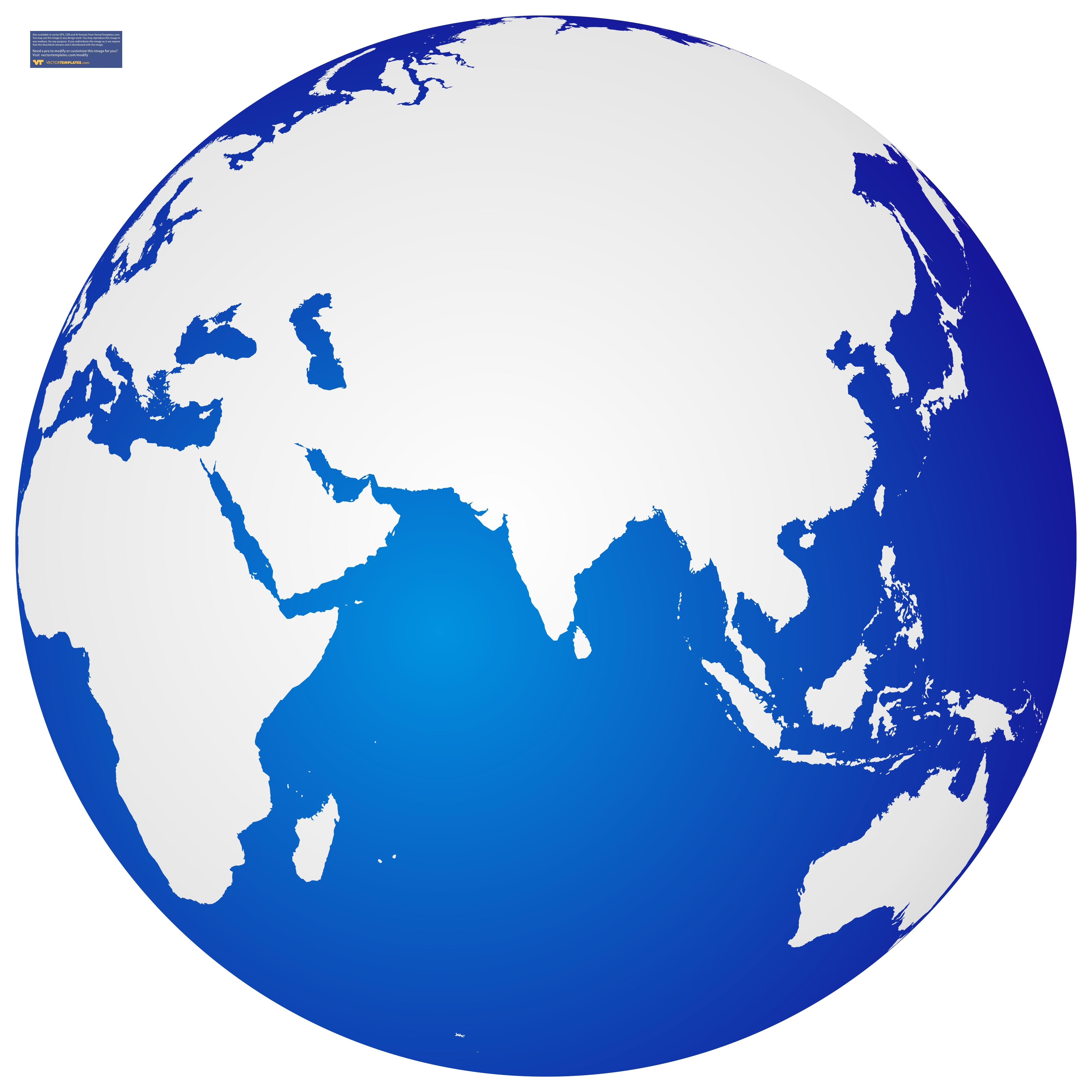 4021x4021 World Globe Clipart