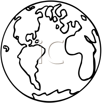 348x350 Earth Clipart Black And White Archives