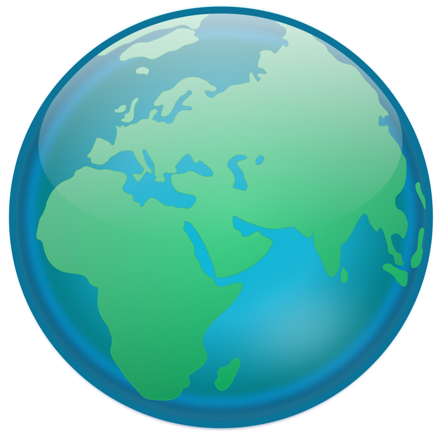 900x900 Earth Simple Globe Vector Free Clipart Images