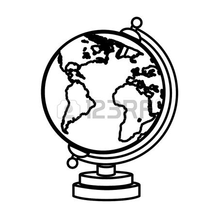 450x450 Globe Map World Object School Education Geography Vector
