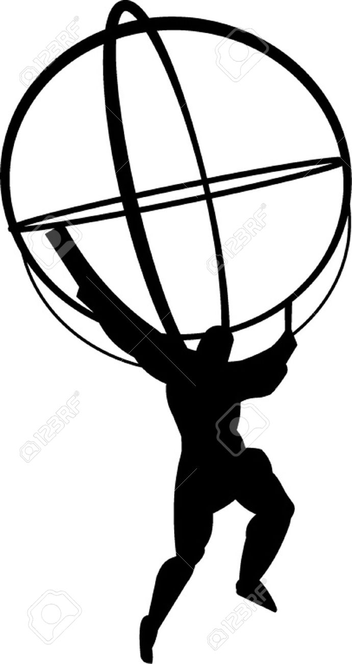 690x1300 Man With Globe Clipart