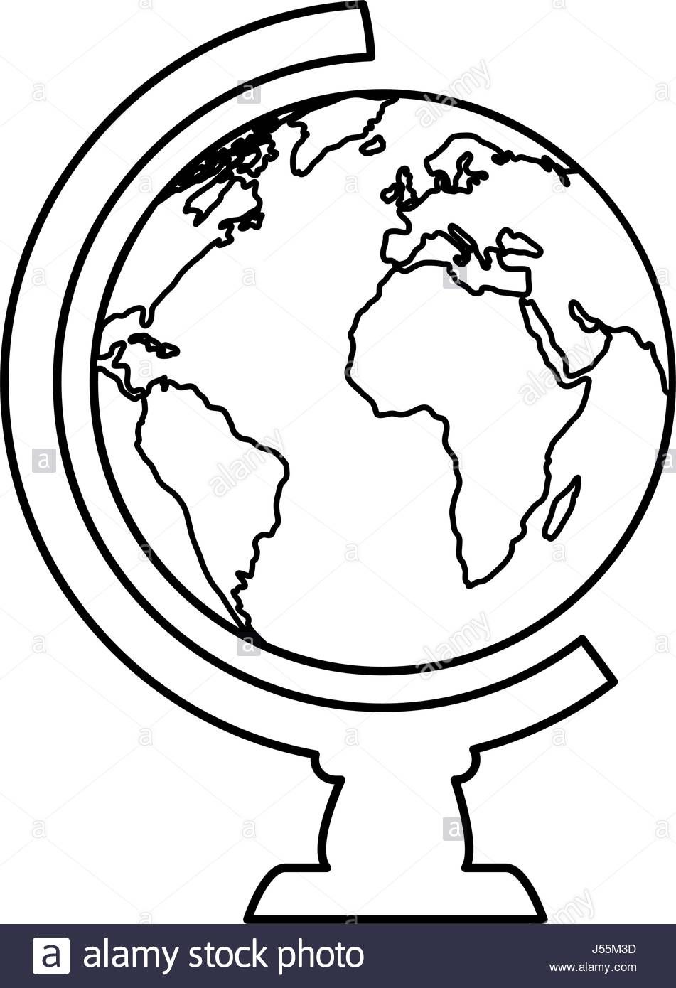 951x1390 World Globe Stock Vector Images