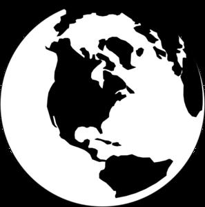 297x299 Black And White World Clip Art
