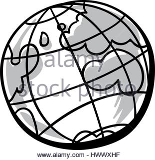 311x320 Cartoon Globe Stock Vector Art Amp Illustration, Vector Image