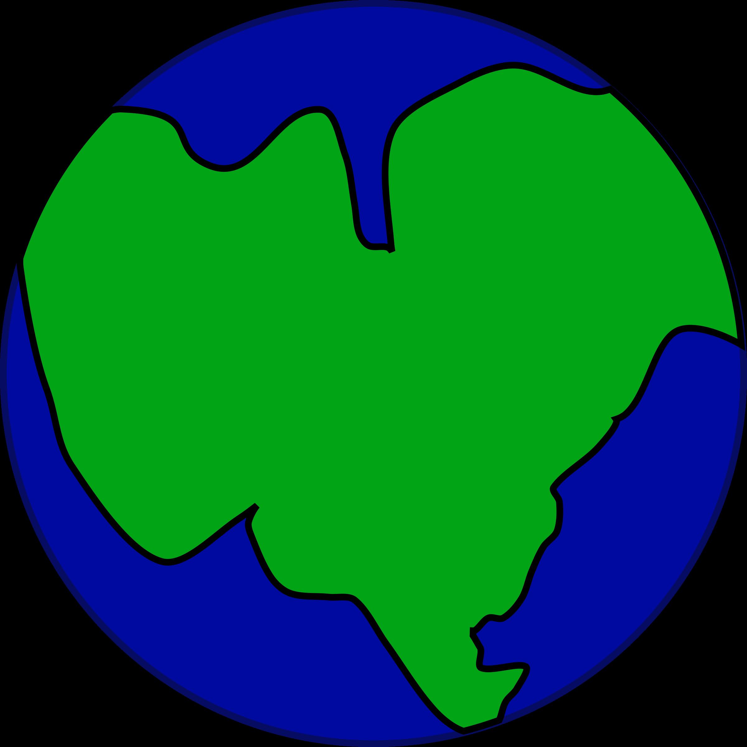 2400x2400 Globe Clipart Continent